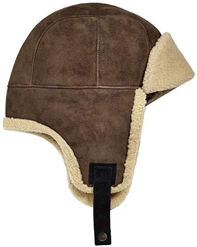 (UGG Mens Sheepskin Trapper Hat, Slate, Size Large/X-Large)