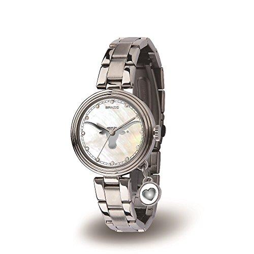 NCAA Texas Longhorns Charm Watch, Silver