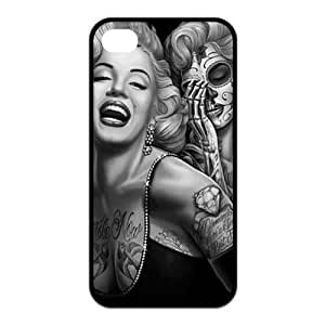 Iphone 4/4s, Doopoo TM Hot Selling Funny Fashional Individualized Pattern Hard Plastic Case Cover for Iphone 4/4s (Iphone 4/4s, Marilyn Monroe Skull Tattoo) hjbrhga1544