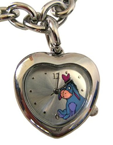(Disney Eeyore Heart Shaped Pendant Bracelet Watch - Winnie the Pooh Watch)