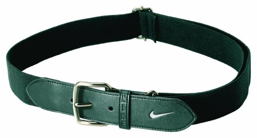 Nike Black Belt (Nike Adult Baseball Belt (Black/White,)