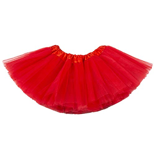 belababy Newborn Baby Red Skirt 5 Layers Tulle Dress Up Tutu -