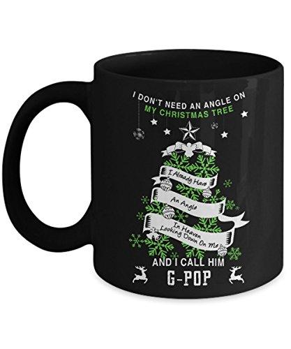 My G-pop Is My Guardian Angel Mug - 11 Oz Ceramic Coffee Mug Tea Cup - Best Gift For Your Papa- Black Mug