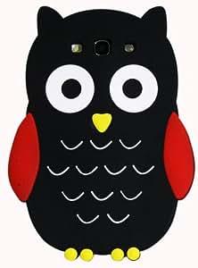 Exian Samsung Galaxy S3 Silicon Black Owl Case
