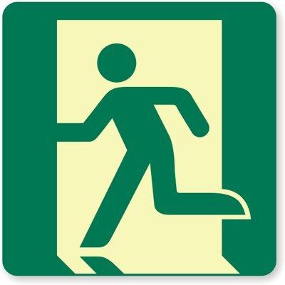 Amazon.com: glowsmart Running Man, señal de salida de ...