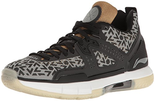 Way Of Wade Mens Wow 5 Birthday Basketball Shoe  Steel Grey  Metallic Gold  Black White  11 5 M Us