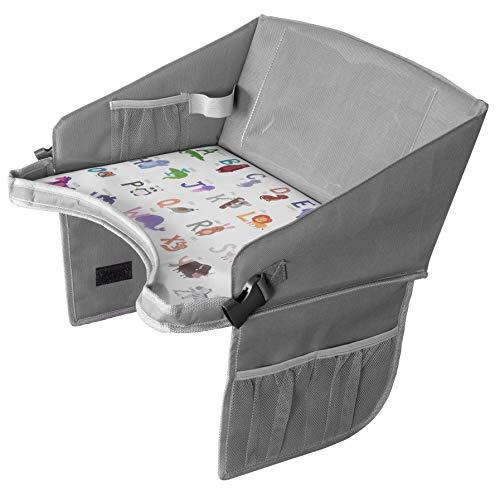 Car Seat Tray by BonaBee Baby│Lap Travel Toy Organizer wit