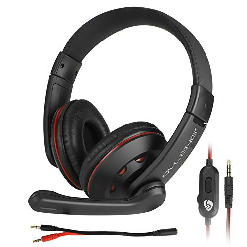 YUOYING Xbox One Ps4 Noise Cancelling Headset, 3.5mm Wired Over Ear Stereo Bass Surround n Gaming Headphones With Mic…