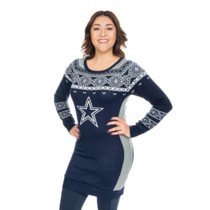 Amazoncom Dallas Cowboys Womens Big Logo Ugly Sweater Dress