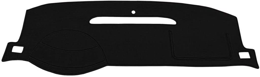 Seat Covers Unlimited Volkswagen Beetle Dash Cover Mat Pad - Fits 1998-2004 (Custom Velour, Black)