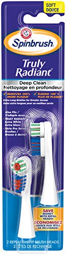 - ARM & HAMMER Spinbrush Truly Radiant Deep Clean Replacement Brush Heads Soft
