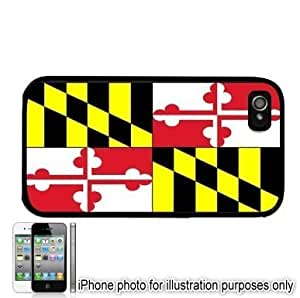Maryland State Flag For Apple Iphone 4/4S Case Cover Black