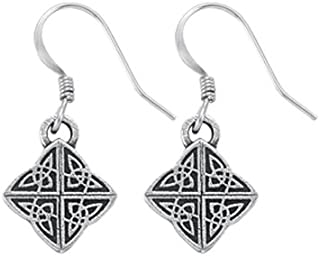 product image for DANFORTH - Celtic Knot Mini Earrings - 5/8 Inch - Pewter - Surgical Steel Wires - Handcrafted - USA