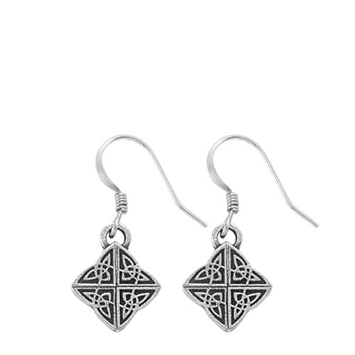 DANFORTH - Celtic Knot Mini Earrings - 5/8 Inch - Pewter - Surgical Steel Wires - Handcrafted - USA ()