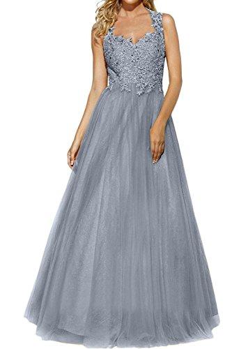 Rock Spitze Glamour Abendkleider mia Promkleider Tuell La Prinzess Ballkleider Grau Brau Abschlussballkleider Brautmutterkleider cyPWAU