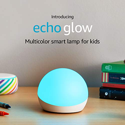 Introducing Echo Glow – Multicolor smart lamp for kids – requires compatible Alexa device
