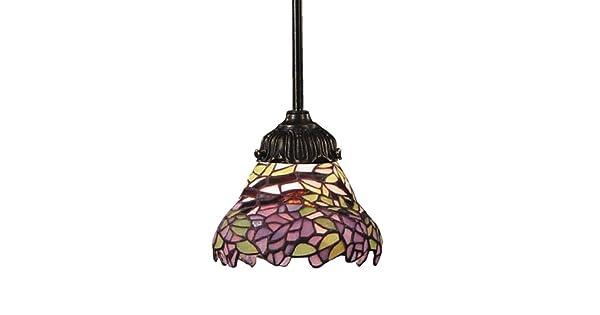 Amazon.com: Alces 078-tb-28 Lila Mix-n-match 1-Light lámpara ...