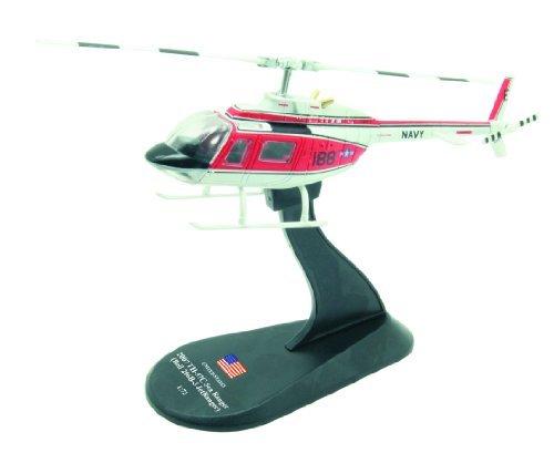 Bell 206 Jet Ranger - BELL 206 JetRanger diecast 1:72 helicopter model (Amercom HY-17)