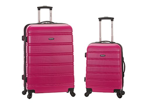 Rockland 20 Inch 28 Inch 2PC Expandable ABS Spinner Set, Magenta by Rockland