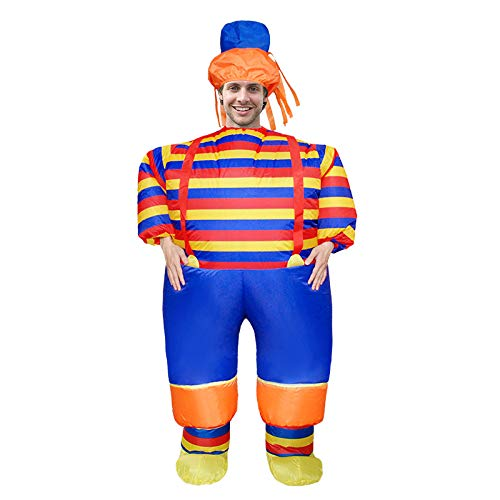 Adult Fat Clown Inflatable Costume For Halloween Christmas Party Carnival Masquerade Cosplay Air Suit,B-Adult(150-190cm) -