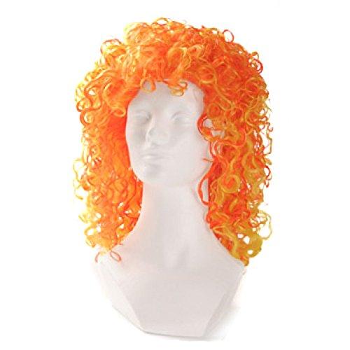 Giallo Bicolore Arancione Alicia Curl Wigs qcATfR0w