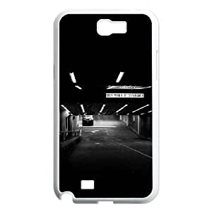 Samsung Galaxy N2 7100 Cell Phone Case White_1H Dark Parking Car Uzubs