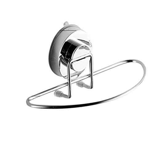 Sucker Hook Freeheart 1PC Stainless Steel Kitchen Bathroom Lavatory Suction Cup Shelf Rack With Towel Bar (Sucker Bar)