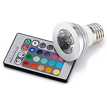 5430net E27/E26 Standard Screw Base 16 Colors Changing Dimmable 3W RGB LED  Light Bulb With IR Remote Control For Home Decoration/Bar/Party/KTV Mood  Ambiance ...