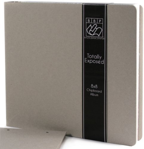 Bazzill Totally Exposed 3-Ring Binder Album, 8 by 8-Inch