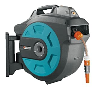 GARDENA Retractable Battery Operated Hose Reel 115 Feet With Convenient Hose  Guide