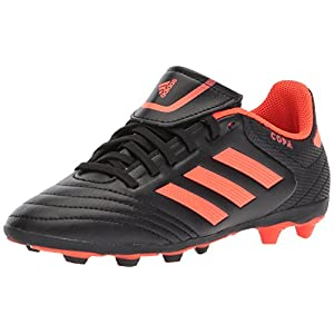adidas Performance Boys' Copa 17.4 FxG J, Black/Solar Red/Solar Red, 11 Medium US Little Kid