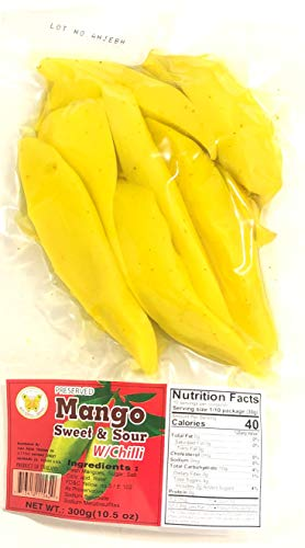 10.57oz Butterfly Brand Preserved Pickled Mango with Chili, Pack of 1