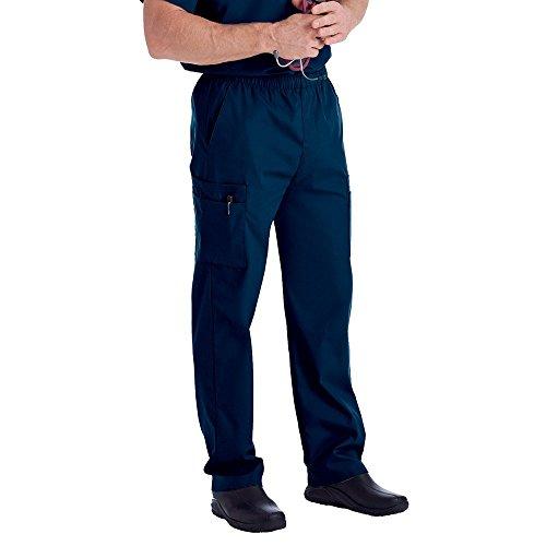 Landau Men's Cargo Scrub Pant, Navy, Medium