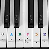 #7: Piano Stickers for Keys, Eison Colorful Piano Keyboard Stickers for 88/61/54/49 Full Set Stickers for White and Black Keys Removable, Leaves No Residue, Multi-Color