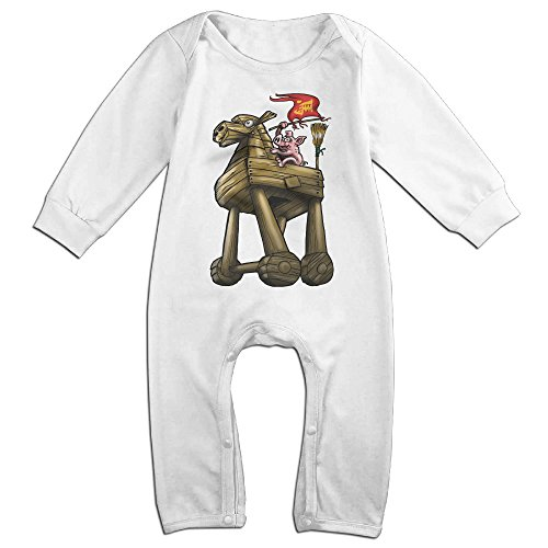 [Raymond Celebrating The Year Of Horse Long Sleeve Baby Climbing Clothes White 12 Months] (Horse Costume Class)