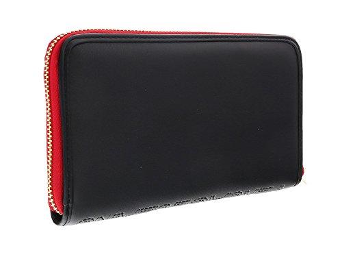 Versace EE3VOBPO2 E899 Black/Red Multifunction Wallet