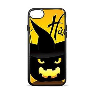 GORIRA (gorilla) lightweight fashion design shock-absorbing bumper case made of three black pumpkin Halloween iPhone 7 for TPU + PC