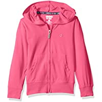 Limited Too Girls' Long Sleeve Zip Front Jersey Hoodie