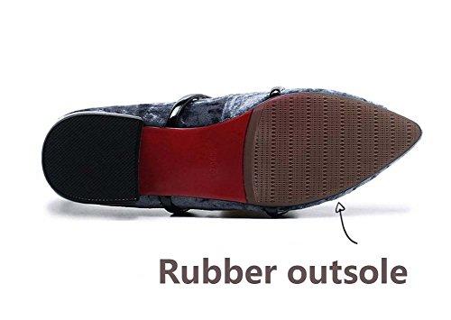Damen Hinten Sandalen Schuhe Bequeme XIE Flache Spitz Asakuchi Sommermode Zipper dqXPSz