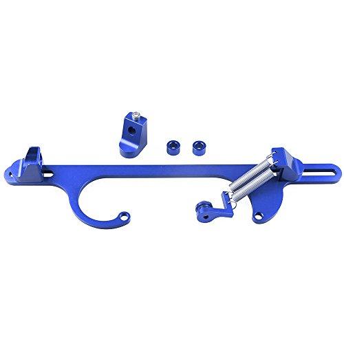 Hamanding 4150 4160 Series Red Billet Aluminum Throttle Cable Carb Bracket Carburetor 350 (Blue)