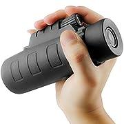 #LightningDeal 78% claimed: Monocular Telescopes Scope Adults Cell Phone Adapter Bird Watching (Black)