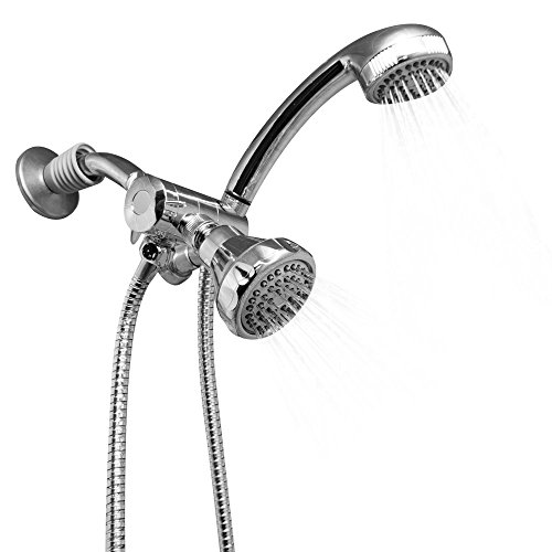 Sunbeam Shower Head with Handheld Combo 2 in 1, Chrome