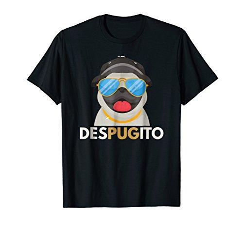 - DesPUGito Pug T-Shirt | Funny Cute Blanket Dog Tee