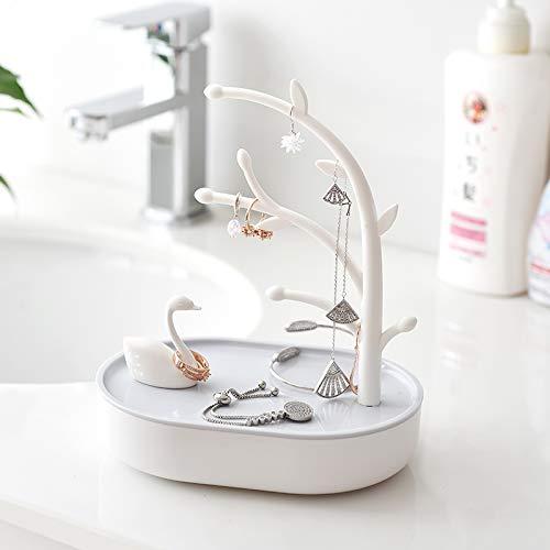 (dayanzai Jewelry Rack Earrings Earrings Display Rack Jewelry Receipt Box Desktop Receipt Box Creative Swan Jewelry Box Ring Necklace Earrings Jewelry Box)