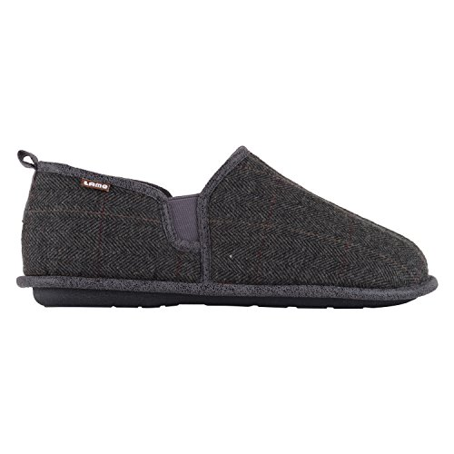 Charcoal Plaid Lamo Slipper Elk Men's wqgZSvZ