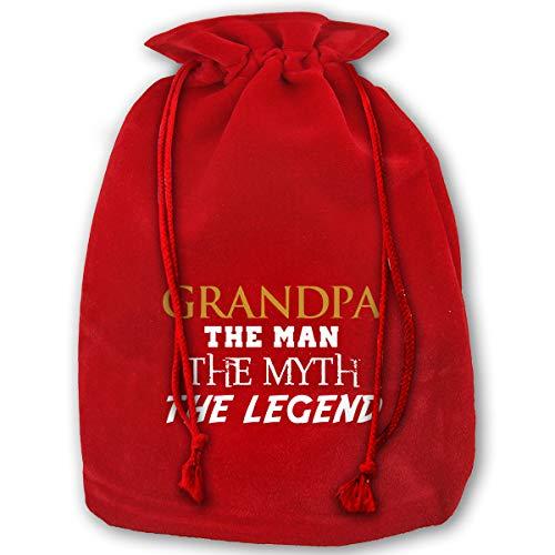 NYSOUVENIRS Bag Grandpa Man Myth Legend Merry Christmas