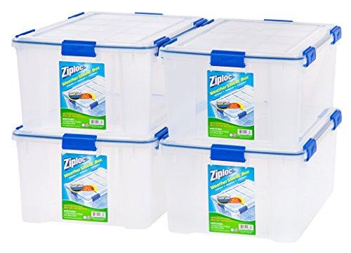 Amazon Com Ziploc Weathershield 60 Quart Storage Box 4