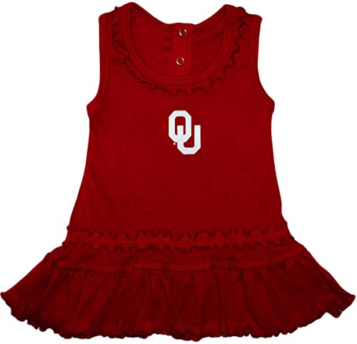 University of Oklahoma OU Sooners Ruffled Tank Top Dress and Bloomer Set Crimson