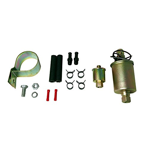 MUCO 12V 2.5-4.5 PSI Externally Mounted Universal Electric Fuel Pump w/Installation Kit by MUCO