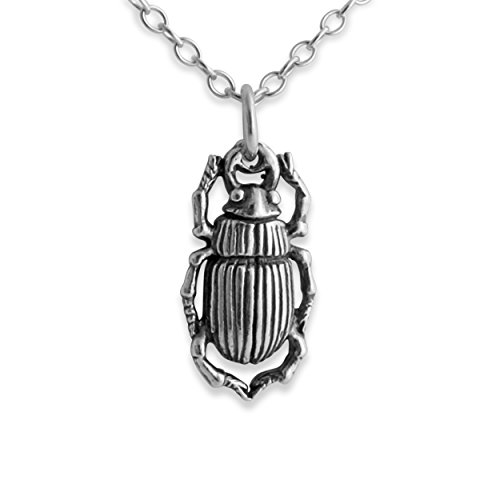 925-sterling-silver-egyptian-scarab-beetle-pendant-necklace-18-inches